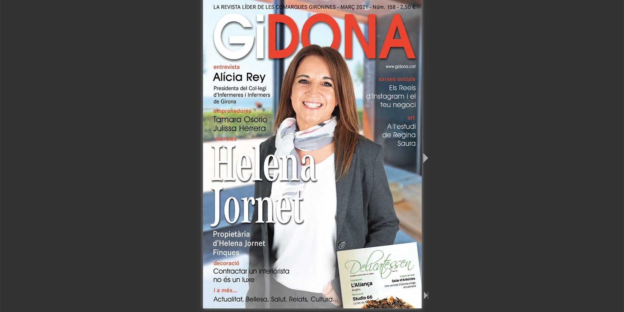 Helena Jornet portada del març a la revista GiDona
