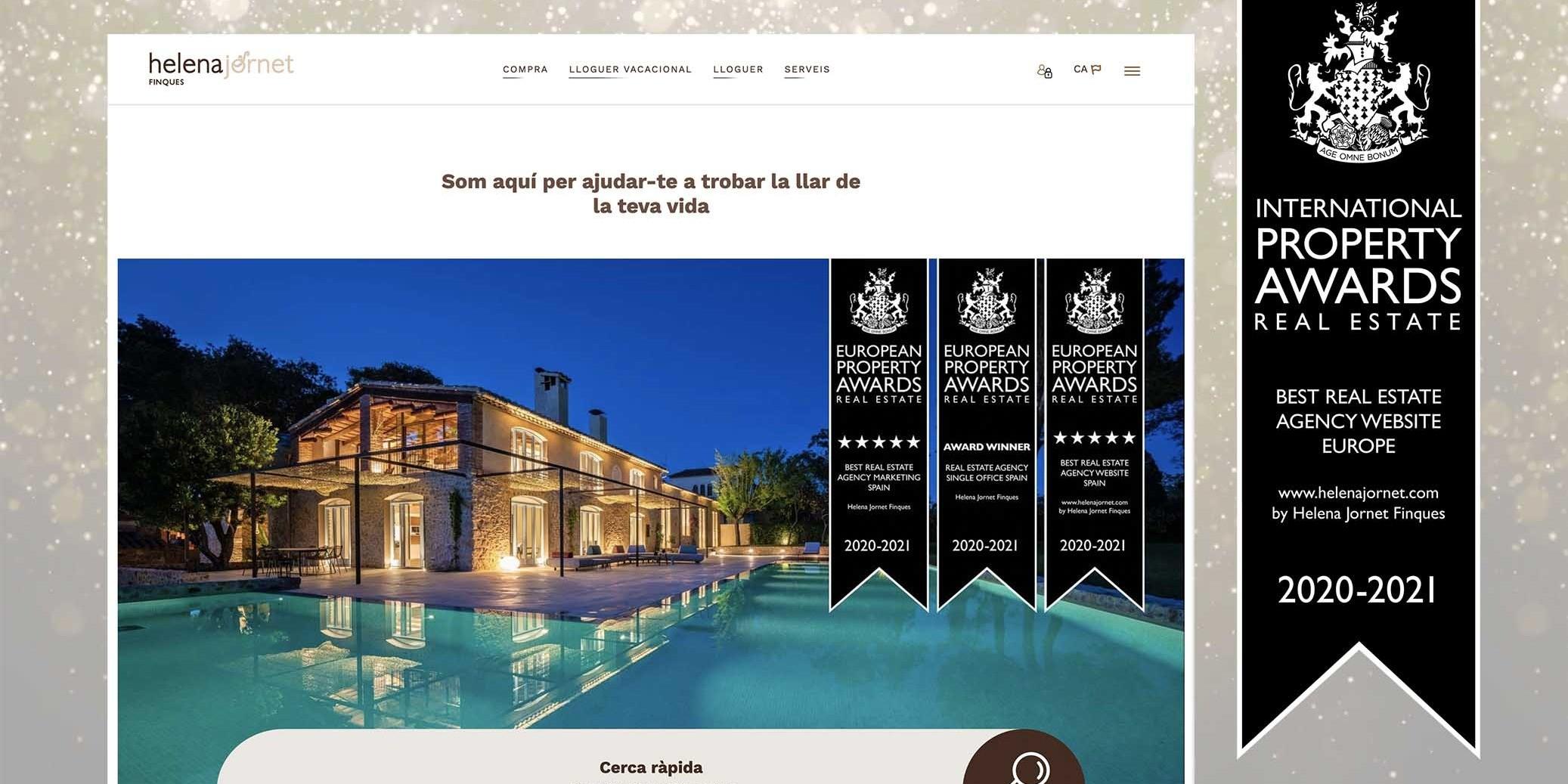 helenajornet.com, el millor web d'agència immobiliària d'Europa